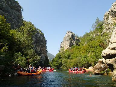 Каньон реки Цетина в Хорватии